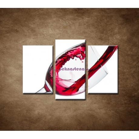 Obrazy na stenu - Červené víno - 3dielny 75x50cm