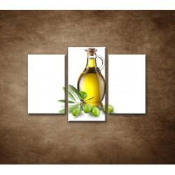 Obrazy na stenu - Olivový olej - 3dielny 75x50cm