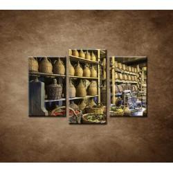 Obrazy na stenu - Stará vínna pivnica - 3dielny 75x50cm