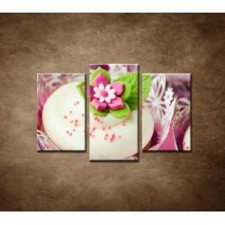 Obrazy na stenu - Svadobné koláčiky - 3dielny 75x50cm