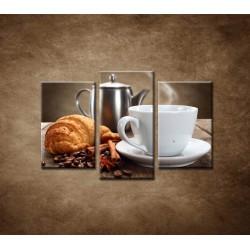 Obrazy na stenu - Raňajky - 3dielny 75x50cm