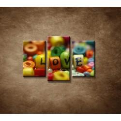 Obrazy na stenu - Love - 3dielny 75x50cm