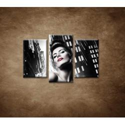 Obrazy na stenu - Sexi žena v meste - 3dielny 75x50cm