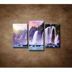 Obrazy na stenu - Vodopád - 3dielny 75x50cm