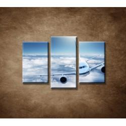 Obrazy na stenu - Boeing 747 - 3dielny 75x50cm