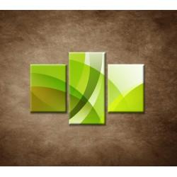 Obrazy na stenu - Zelená abstrakcia - 3dielny 90x60cm