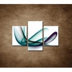 Obrazy na stenu - Elegantná špirála - 3dielny 90x60cm