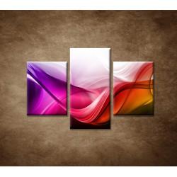 Obrazy na stenu - Farebná vlna - 3dielny 90x60cm