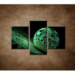 Obrazy na stenu - Abstraktná guľa - 3dielny 90x60cm