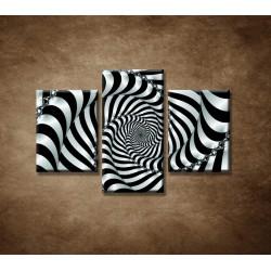 Obrazy na stenu - 3D špirála - 3dielny 90x60cm