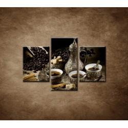 Obrazy na stenu - Kanvica kávy - 3dielny 90x60cm