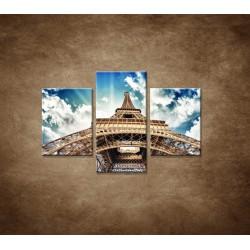 Obrazy na stenu - Eifelova veža zdola  - 3dielny 90x60cm