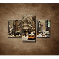 Obrazy na stenu - Žehlička - New York  - 3dielny 90x60cm