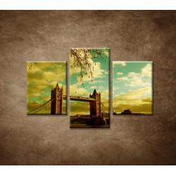 Obrazy na stenu - Londýn - Tower Bridge - 3dielny 90x60cm