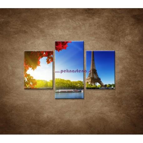 Obrazy na stenu - Eifelova veža  - 3dielny 90x60cm