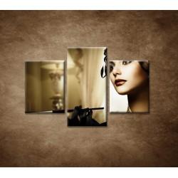 Obrazy na stenu - Žena s cigaretou - 3dielny 90x60cm