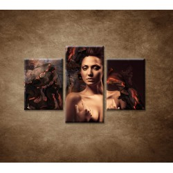 Obrazy na stenu  - Sexi žena - 3dielny 90x60cm