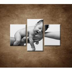 Obrazy na stenu  - Dieťatko - 3dielny 90x60cm
