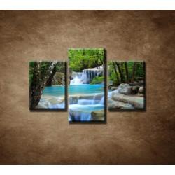 Obrazy na stenu - Horský potok  - 3dielny 90x60cm
