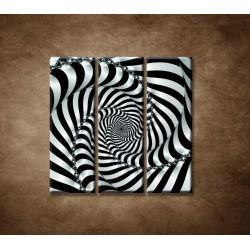 Obrazy na stenu - 3D špirála - 3dielny 90x90cm