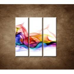 Obrazy na stenu - Farebný dym - 3dielny 90x90cm