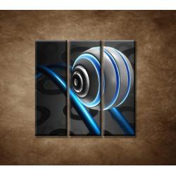 Obrazy na stenu - 3D guľa - 3dielny 90x90cm