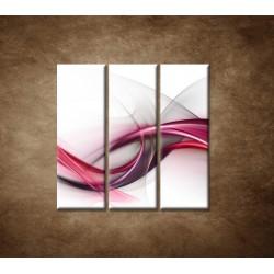 Obrazy na stenu - Ružová vlna - 3dielny 90x90cm
