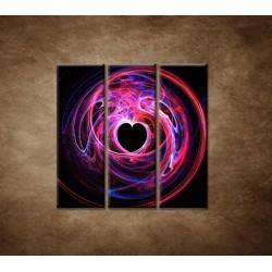 Obrazy na stenu - 3D srdce - 3dielny 90x90cm
