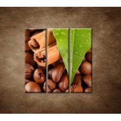 Obrazy na stenu - Káva - 3dielny 90x90cm