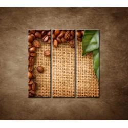 Obrazy na stenu - Kávové zátišie - 3dielny 90x90cm