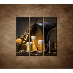 Obrazy na stenu - Pivný raj - 3dielny 90x90cm
