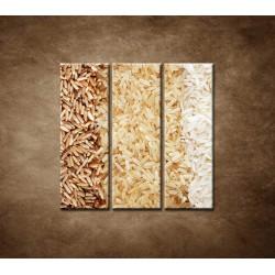 Obrazy na stenu - Tri druhy ryže - 3dielny 90x90cm