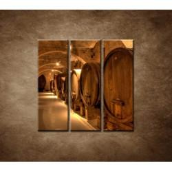 Obrazy na stenu - Vinárska pivnica - 3dielny 90x90cm