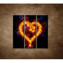 Obrazy na stenu - Ohnivé srdce - 3dielny 90x90cm