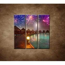 Obrazy na stenu - Oslavy na ostrove - 3dielny 90x90cm