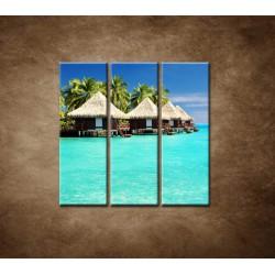 Obrazy na stenu - Chatky na mori - 3dielny 90x90cm