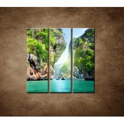 Obrazy na stenu - Raj - 3dielny 90x90cm