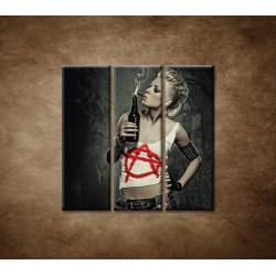 Obrazy na stenu - Rockerka - 3dielny 90x90cm