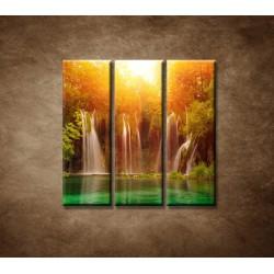 Obrazy na stenu - Vodopád 3 - 3dielny 90x90cm