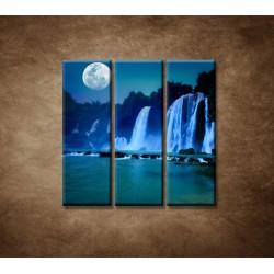 Obrazy na stenu - Nočné vodopády - 3dielny 90x90cm