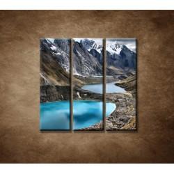 Obrazy na stenu - Tri lagúny - 3dielny 90x90cm