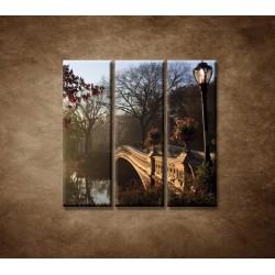 Obrazy na stenu - Most v parku - 3dielny 90x90cm