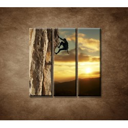 Obrazy na stenu - Horolezec - 3dielny 90x90cm