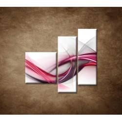 Obrazy na stenu - Ružová vlna - 3dielny 110x90cm