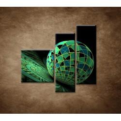 Obrazy na stenu - Abstraktná guľa - 3dielny 110x90cm