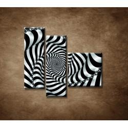 Obrazy na stenu - 3D špirála - 3dielny 110x90cm