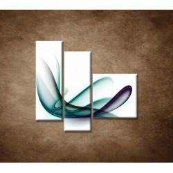 Obrazy na stenu - Elegantná špirála - 3dielny 110x90cm
