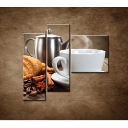 Obrazy na stenu - Raňajky - 3dielny 110x90cm