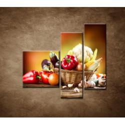 Obrazy na stenu - Zelenina - 3dielny 110x90cm