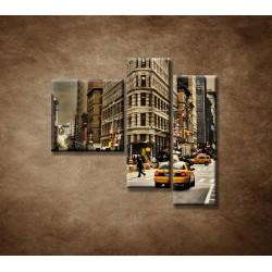 Obrazy na stenu - Žehlička - New York - 3dielny 110x90cm